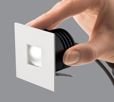 Step Outside 6 1 2 Quot Square Led Recessed Wall Mount